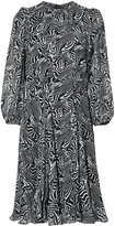 Derek Lam zebra print semi-sheer dress