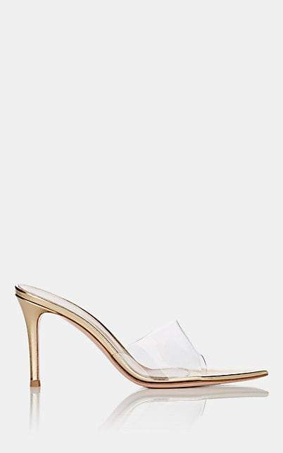 Gianvito Rossi Women's Metallic Leather & PVC Mules - Gold