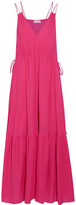 Apiece Apart Daphne Cotton-crepon Maxi Dress - Fuchsia