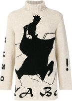 Yohji Yamamoto embroidered roll-neck sweater