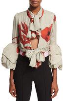 Johanna Ortiz Alana Floral-Print Georgette Bodysuit