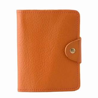 Luxury Italian Leather Orange Passport Cover