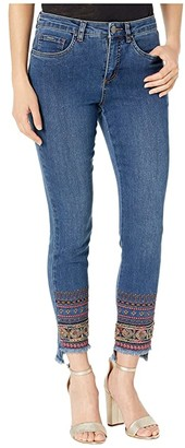 FDJ French Dressing Jeans Olivia Slim Ankle with Embellished Frayed Hem in Denim (Denim) Women's Jeans