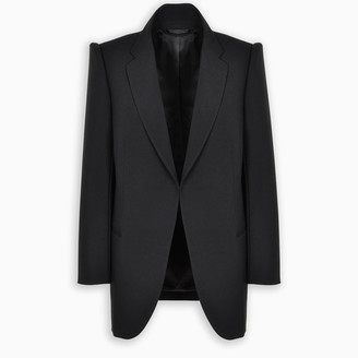 Balenciaga Black tailored jacket with open front