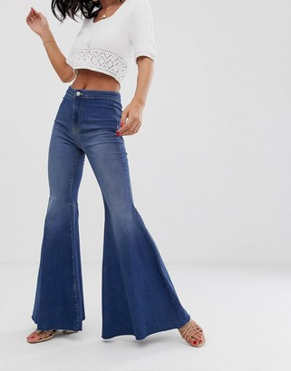 We The Free By Free People by Free People Just Float On high waist flare jean