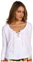 Free People Gate Keeper Top (Optic White) - Apparel