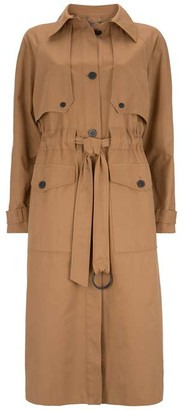 Mint Velvet Tan Belted Long Trench Coat