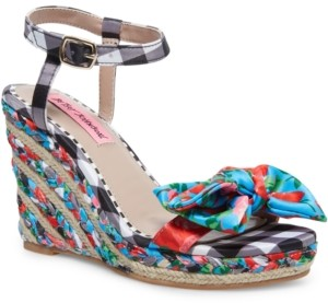 Betsey Johnson Carie Wedge Sandals Women's Shoes