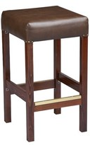 """Regal Beechwood Square Backless Fully Upholstered Seat Bar & Counter Stool Seat Height: Counter Stool (26"""" Seat Height)"""