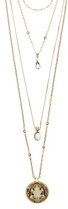 Alexander Mcqueen - Crystal And Faux-pearl Chain Necklace - Womens - Gold