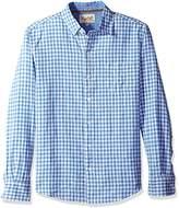 Margaritaville Men's Long Sleeve Gingham Check Shirt