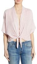 Rails Thea Tie-Front Cropped Top