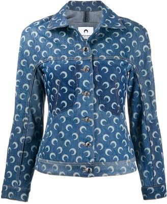Marine Serre Moon Print Denim Jacket