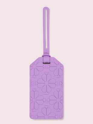 Kate Spade spade flower luggage tag