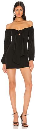 superdown x Draya Michele Jessika Tie Front Dress