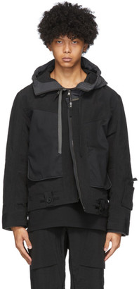 Blackmerle Reversible Black Hooded Jacket