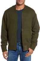 Schott NYC Men's Ma-1 Sweater Jacket