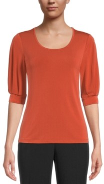 Kasper Elbow-Sleeve Blouse
