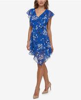Jessica Simpson Printed Handkerchief Dress
