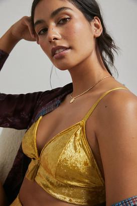 Anthropologie Lula Velvet Bralette By in Purple Size XS