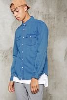 Forever 21 Pocket-Front Denim Shirt