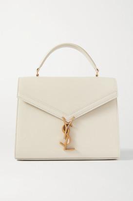 Saint Laurent Cassandra Medium Textured-leather Tote - Off-white