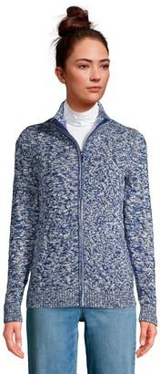 Lands' End Women's Drifter Zip-Front Sweater Jacket