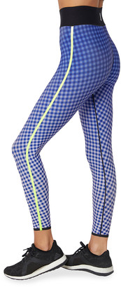 ULTRACOR Framework High-Waist Plaid-Print Performance Leggings