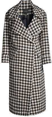 Smythe Houndstooth Wool, Alpaca & Mohair-Blend Blanket Coat