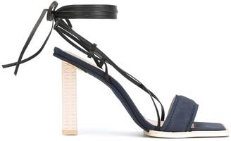 Jacquemus Suede Square-Toe Sandals