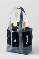 Lands' End Six Bottle Denim Wine Tote
