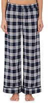 Skin Women's Pima Cotton Plaid Pajama Pants-NAVY