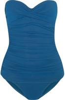 Heidi Klein San Diego Ruched Bandeau Swimsuit - Azure
