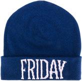Alberta Ferretti Friday intarsia beanie - women - Cashmere/Virgin Wool - One Size
