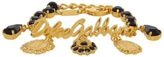 Dolce & Gabbana Gold Logo and Charms Bracelet