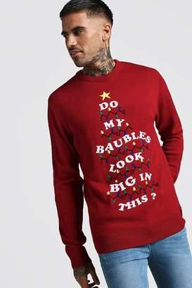 boohoo Slogan Christmas Jumper