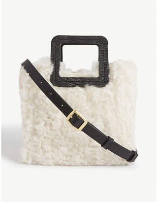 STAUD Shirley mini shearling leather tote