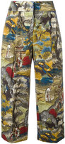 Antonio Marras printed cropped trousers - women - Cotton - 40