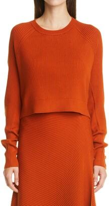 Jonathan Simkhai Hannah Fringe Crop Sweater