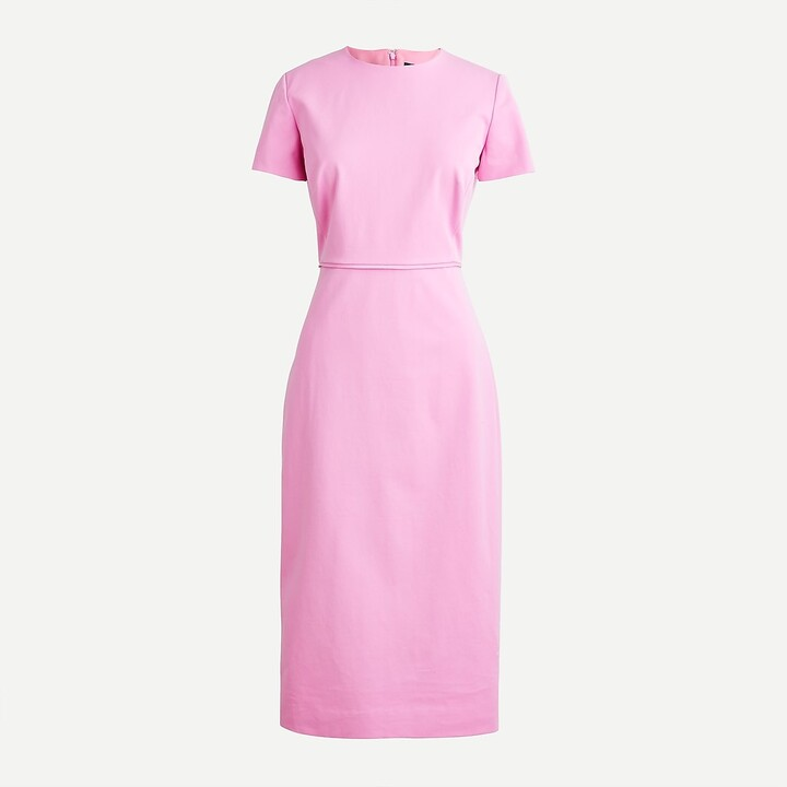 Thumbnail for your product : J.Crew Petite short-sleeve sheath dress in bi-stretch cotton