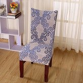 Yiwant Super Fit Stretch Removable Washable Short Dining Chair Cover Protector Seat Slipcover for Hotel,Dining Room,Ceremony,etc - 1 Pack, Style 1004-8