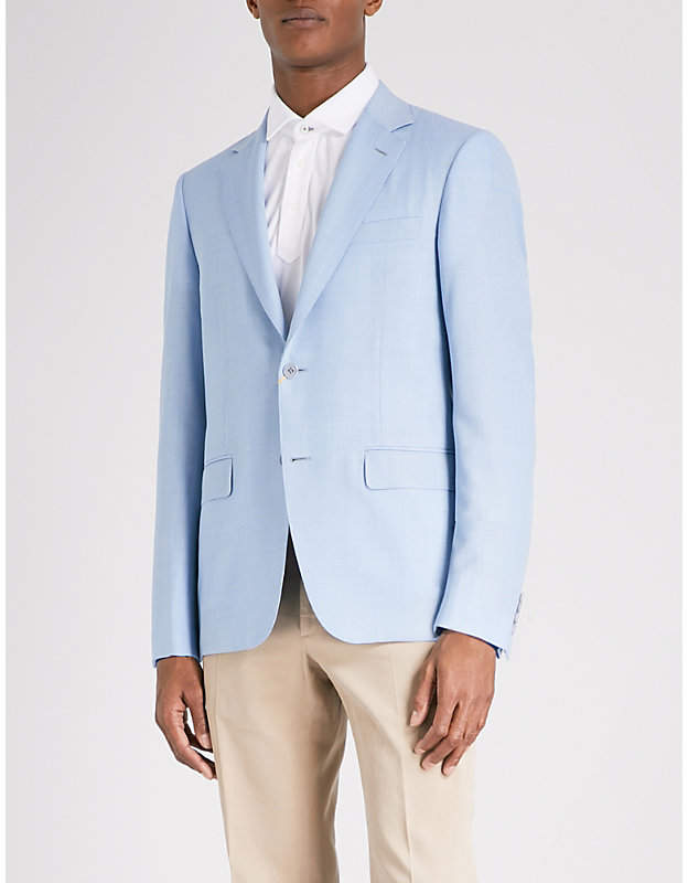 Canali Tailored-fit wool jacket