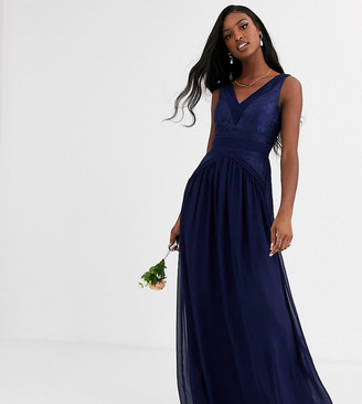 Little Mistress Tall v neck maxi dress