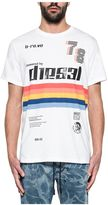 Diesel White Joe Print Jersey T-shirt