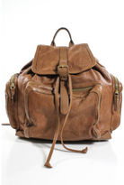Pierre Hardy Cognac Gold Tone Leather Multi-Pocket Backpack