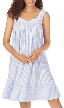 Eileen West Ruffle Trim Eyelet Lace Chemise Nightgown