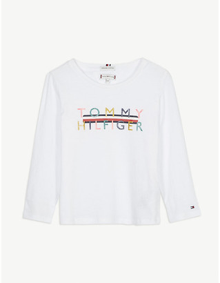 Tommy Hilfiger Metallic logo cotton top 4-16 years