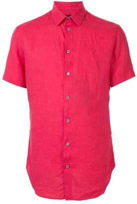 Giorgio Armani Short-Sleeve Fitted Shirt