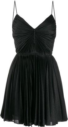 Saint Laurent pleated short dress