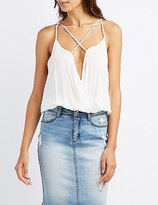 Charlotte Russe Strappy Surplice Tank Top
